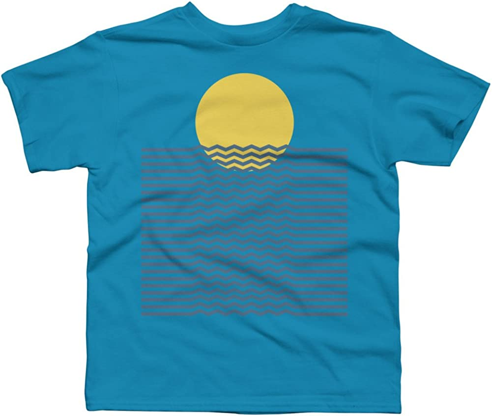 Design By Humans Sunset Reflection Boys Youth Graphic T Shirt