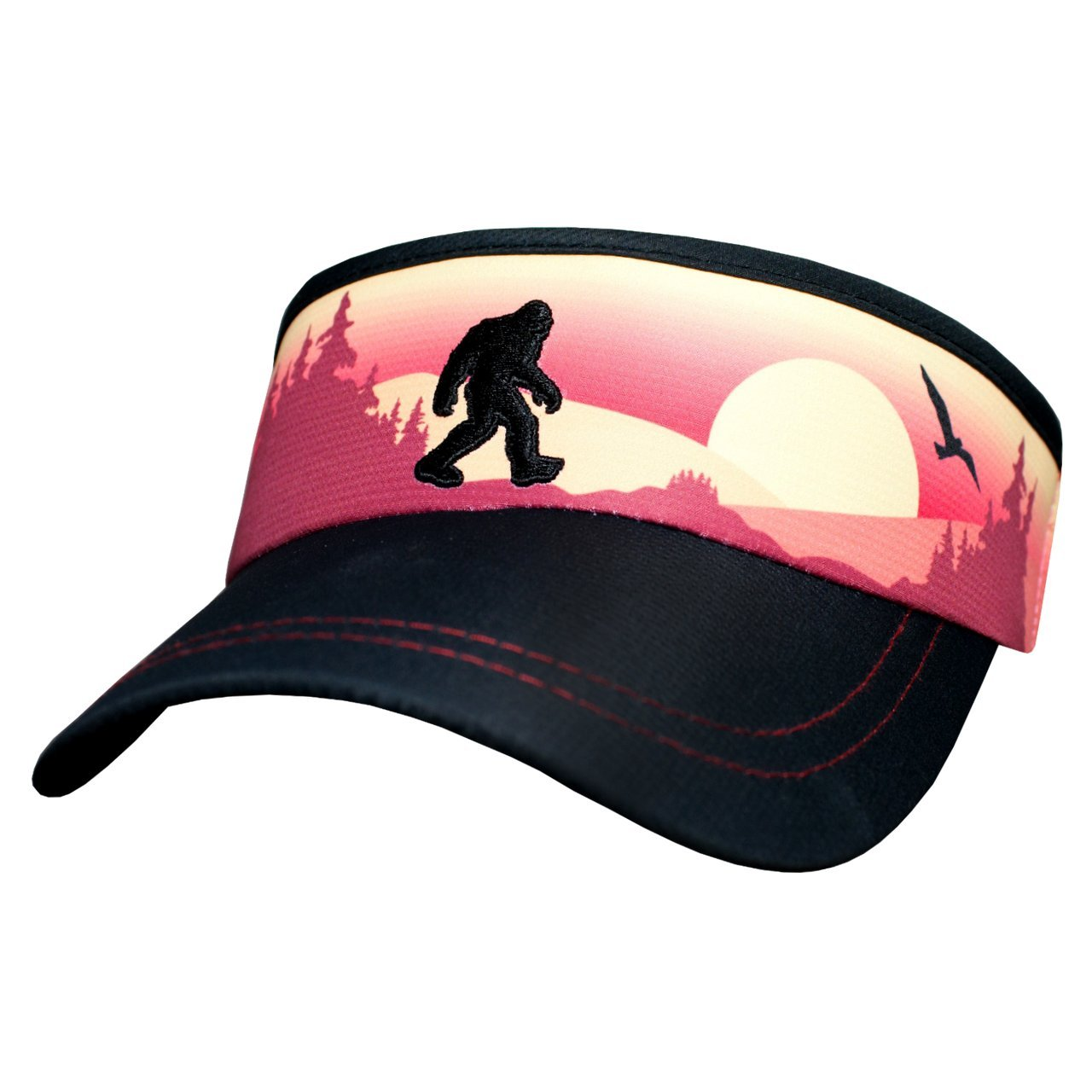 Headsweats Reflective Bigfoot Sunset Super Visor, One Size, Black/Orange