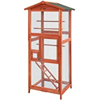 Bird Cage Wooden Pet Cages Aviary Large Carrier Travel Canary Cockatoo Parrot XL i.Pet