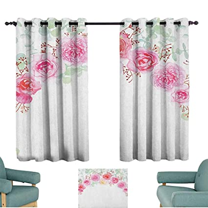 Amazon.com: Shabby Chic,Kitchen Curtains Floral Wreath in ...