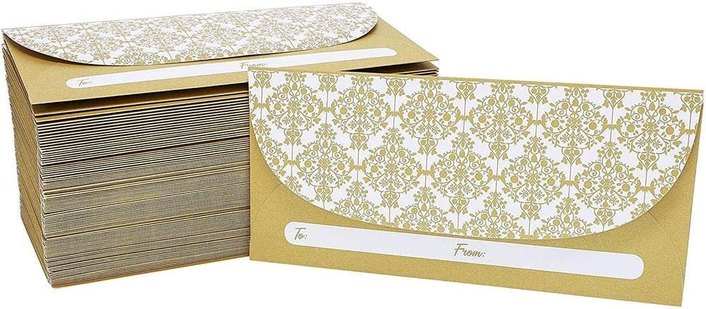 ivory embossed Ivory Set of 4 money envelope Gift Card holder monetary currency purse Wedding Congratulations Card with money folder