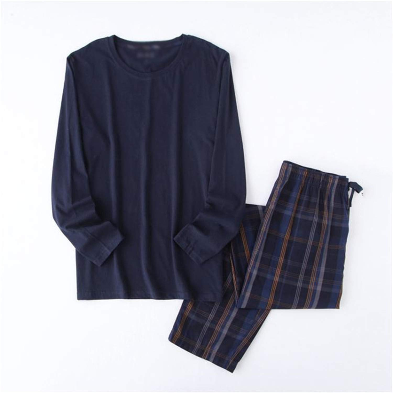 Simple Pajamas Men Cotton Plus Size Autumn 100/% Cotton Long-Sleeve Pyjamas Daily Wear Pijama Male Masculino Pijama De Hombre