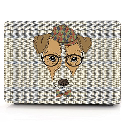 HRH Dog with glasses Laptop Body Shell Protective Rubberized Hard Case for Apple MacBook Air 13.3