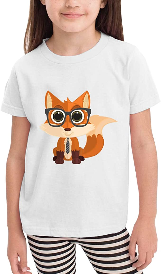 Fox Nerd Wear Glasses 100/% Cotton Toddler Baby Boys Girls Kids Short Sleeve T Shirt Top Tee Clothes 2-6 T