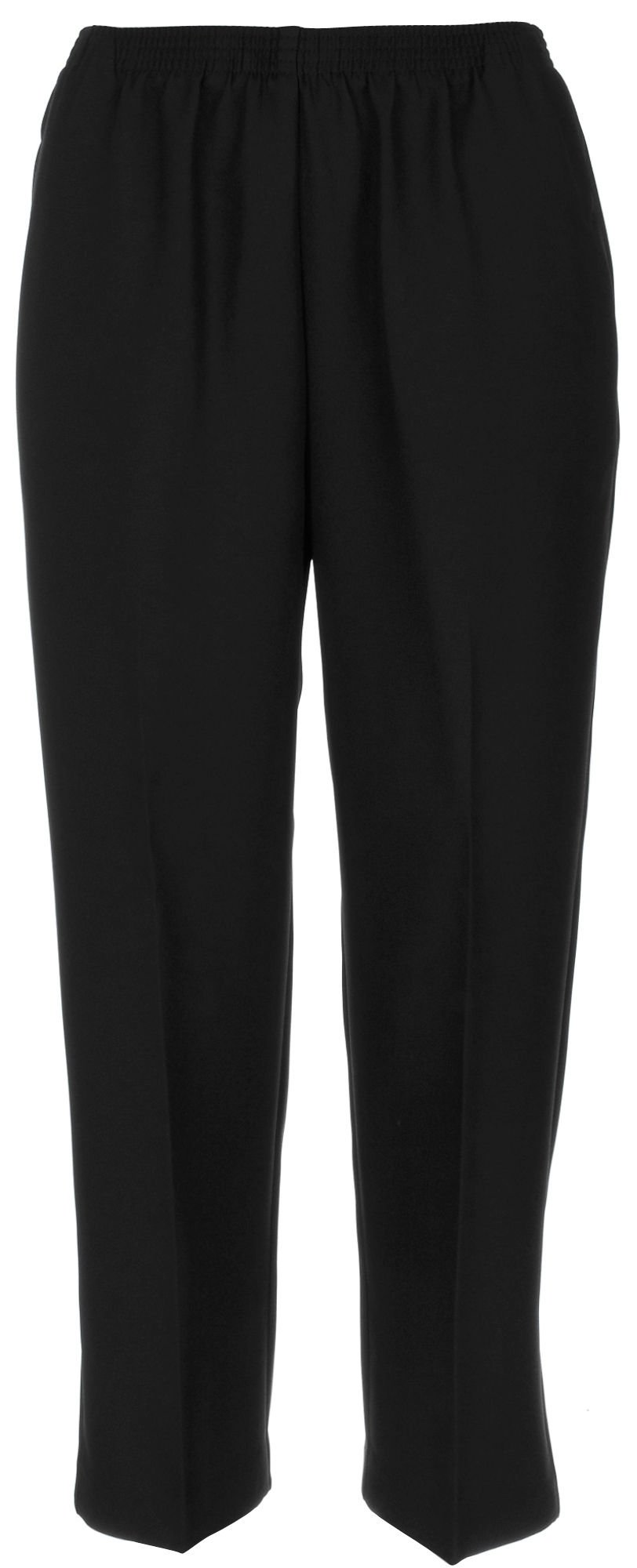 Alfred Dunner Petites' Pull-on Flat-front Pants Black 12P