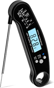 DIGITBLUE Meat Thermometer Waterproof , Instant Read Digital Meat Thermometer with Built-in Bottle Opener for Kitchen Cooking BBQ Food Baking Liquid Meat Grill