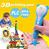 2018 UPGRADED Professional 3D Printing Doodler Pen with Low Temperature,3D Printing Drawing Pen with 1.75mm PCL Filament,3D Print Pen is Perfect Gift for Kids, Adults.