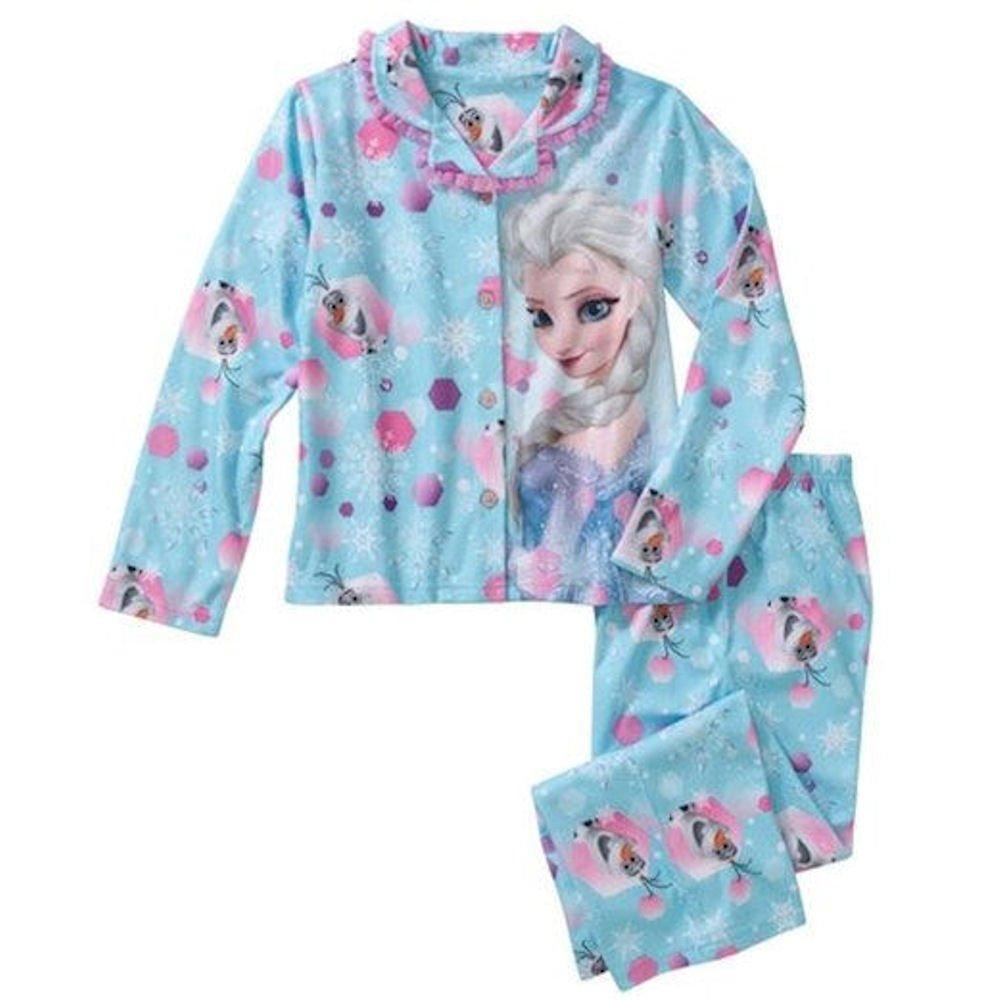 Disney Frozen Girls Elsa with Olaf Long Sleeve Pajamas Large 10-12