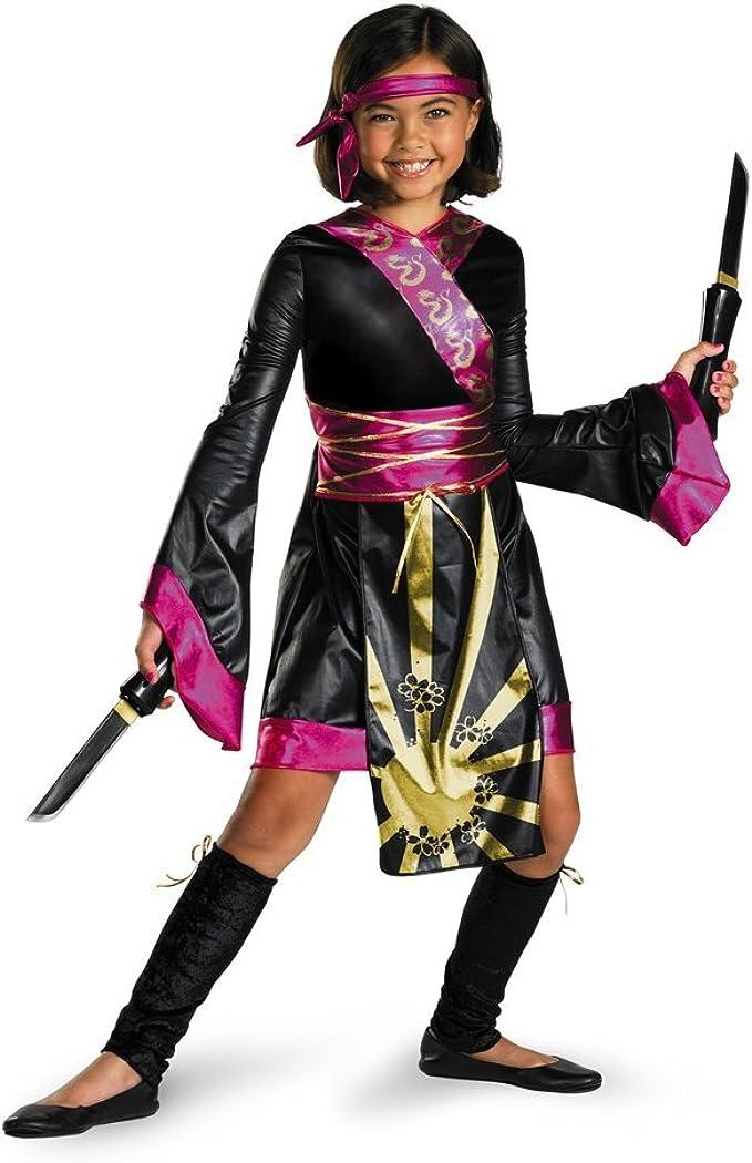 Amazon.com: Disfraz niña disfraz de dragón ninja niño, L (10 ...