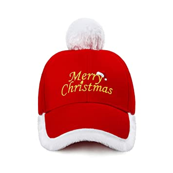 2c434cc575076 Amazon.com  Christmas Hat Fashionable Red and White Festive Santa Claus Baseball  Cap Xmas Hat  Home   Kitchen