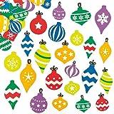 Pegatinas de Espuma en Forma de Bolas de Navidad Perfectas para Decorar Tarjetas Álbumes Collages y Otras Manualidades de Niños (Pack de 120)