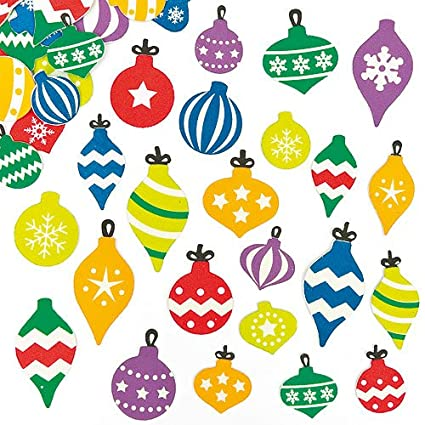 Baker Ross Bauble Tree Ornament Foam Stickers For Children To Decorate Christmas Crafts And Cards
