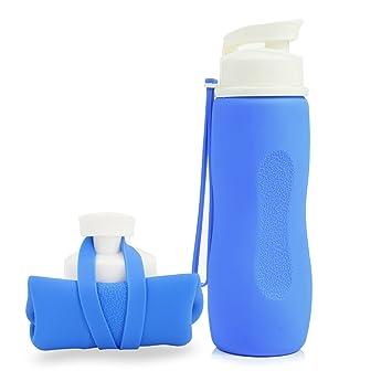 Botella agua de silicona, copas portátiles, retractable ...