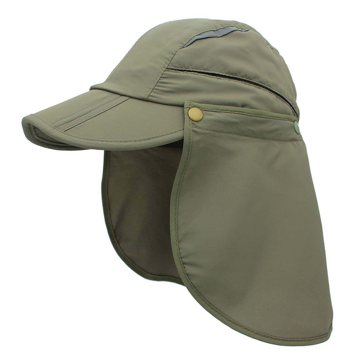 OUTFLY Unisex Outdoor Fishing Hat Polyester UPF 50 Sun Protection Cap