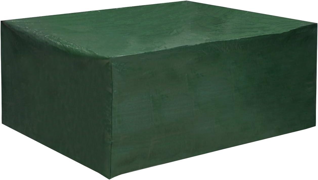 WOLTU Fundas Mesa Jardin Impermeable 242x162x100cm Resistente al Polvo Anti-UV Lluvia y Sol Protección Mesas Sillas Sofás Exterior Muebles de Jardín Mesa y Silla Color Verde