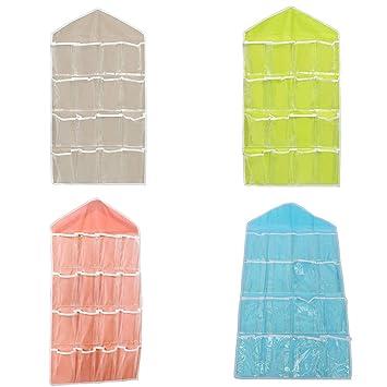 Homeofying Armario multifunción Bolsa de Colgar Calcetines Sujetador Ropa Interior Percha Organizador de Almacenamiento: Amazon.es: Hogar
