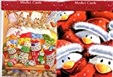 Best Value Set of 2 Christmas Advent Calendars with Bunnies and Penguins Imported. Perfect Holiday Gift {jg} For mom, dad, sister, brother, grandmother, grandma, friend, gay, lgbtq.