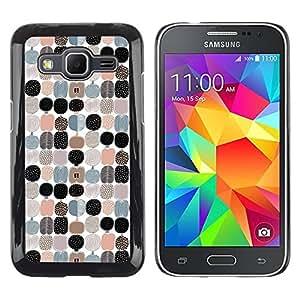 Paccase / SLIM PC / Aliminium Casa Carcasa Funda Case Cover para - Apple Pattern White Black Teal Peach - Samsung Galaxy Core Prime SM-G360