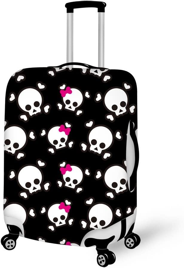 LedBack Luggage Cover Protector Cartoon Skull Protective Bag for Suitcase 22-30/""