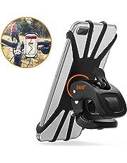"""Vobon Support Téléphone Vélo, Support Moto de Guidon Universel Rotatif à 360 Degrés Anti-Vibrations en Silicone Réglable 4.5""""-6.5"""" (Noir)"""