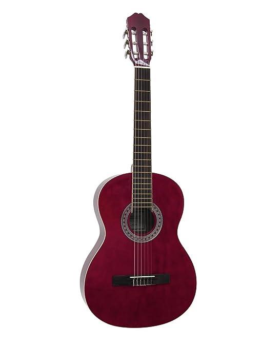 Guitarra de concierto FIDEL con bolsa para llevar, 4/4, roja ...