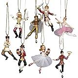 """Kurt Adler 2.75"""" Polyresin Nutcracker Suite Miniature Ornament Set, 8 Pieces"""