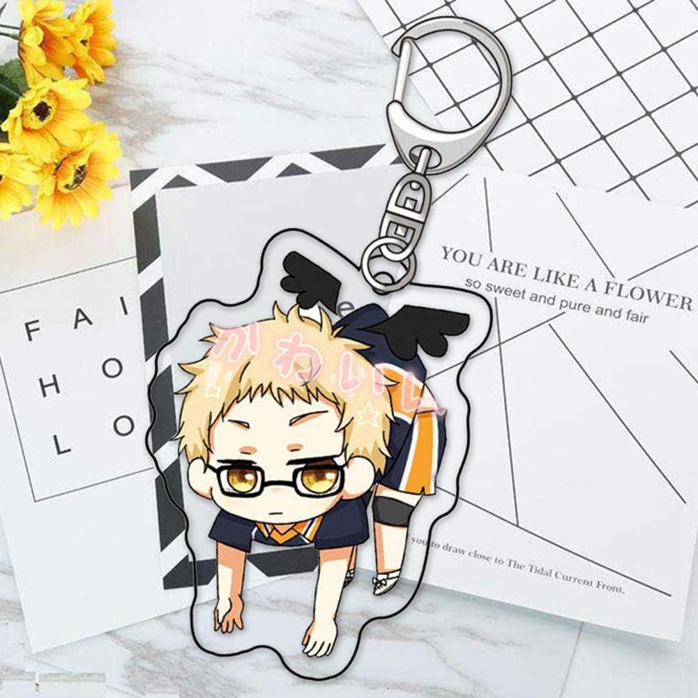 Quero Jom91 Cute Anime Haikyuu Cosplay Cartoon Key Chains Keyring Clothes Backpack Accessories Decor