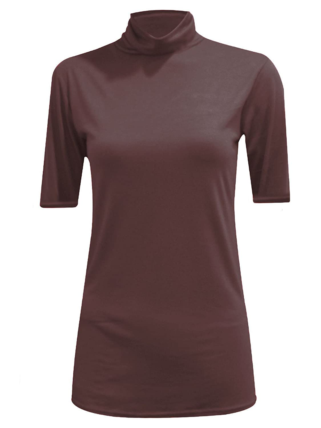 Comfiestyle New Womens Ladies Casual Plain Short Sleeves Polo Neck Top Dress Plus Size. UK 8-26