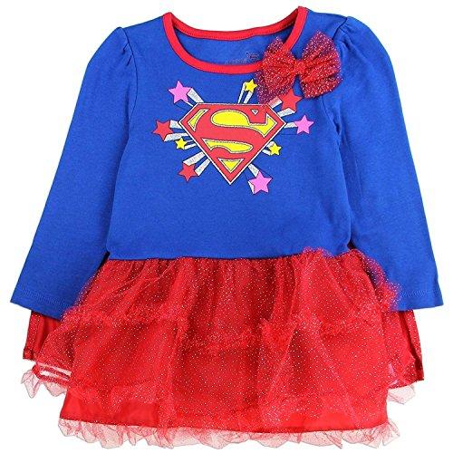 Supergirl Tutu Dress With Cape (18 -
