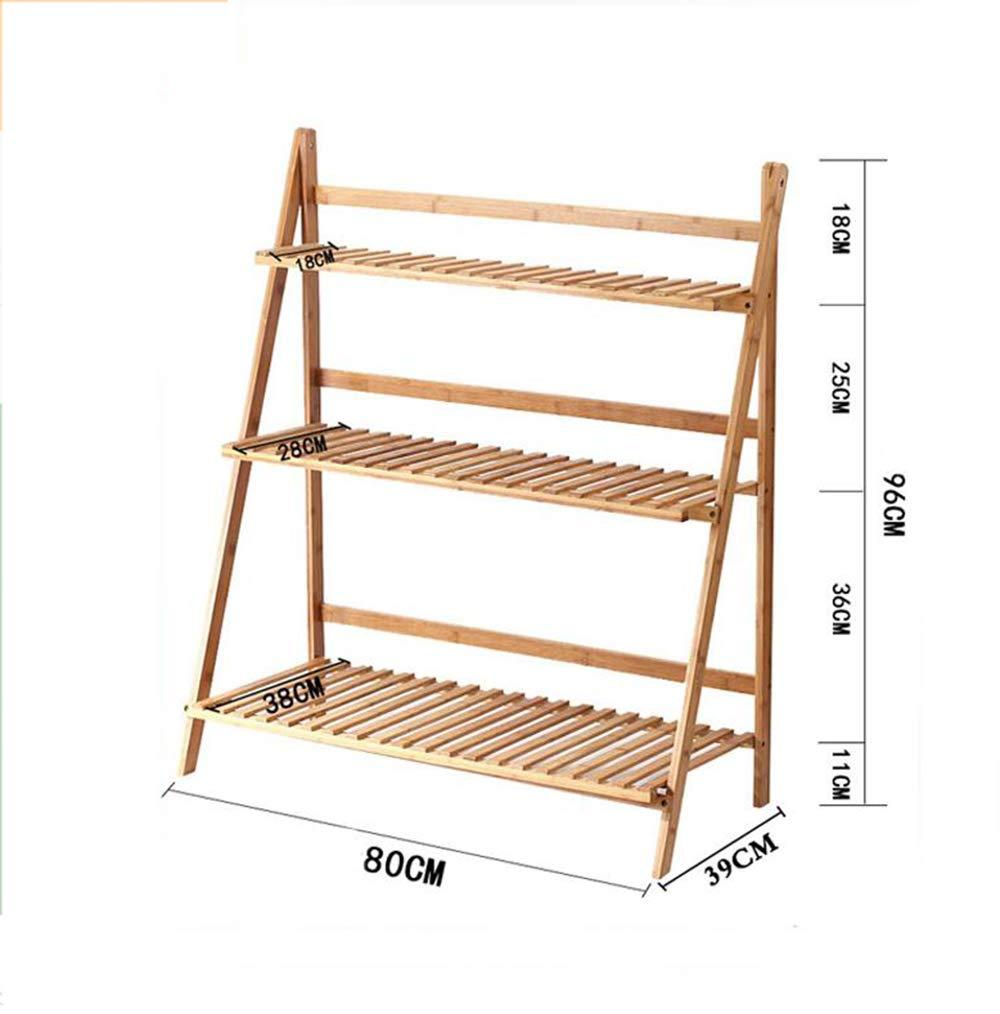 negozio online outlet XZGDEN Stand a 3 Strati in bambù e Legno, Basamento Basamento Basamento Decorativo Pieghevole in pianta in Vaso 6 Dimensioni  a buon mercato