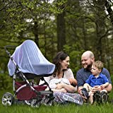 Baby Mosquito Net Infant Insect Netting, Encrypted Network, Elastic Breathable Universally Applicable Camping and Travel Stroller Mosquito Net (Blue)