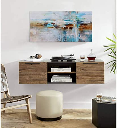 Abstract Painting Canvas Wall Art Picture Print Decoration for Living Room Large Gray Themed Modern Hand Painted Artwork Hang in Bedroom Office Home Decor