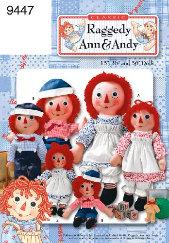 Simplicity Sewing Pattern 9447 Raggedy Ann and Andy Dolls, One (Raggedy Ann And Andy Doll Patterns)