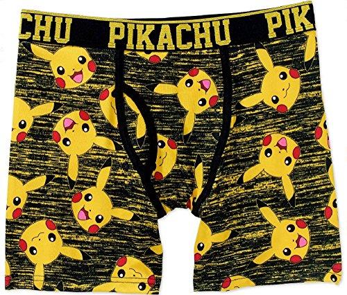 Bioworld Pokemon Pikachu All Over Mens' Boxer Briefs (Pikachu Hoodie For Sale)