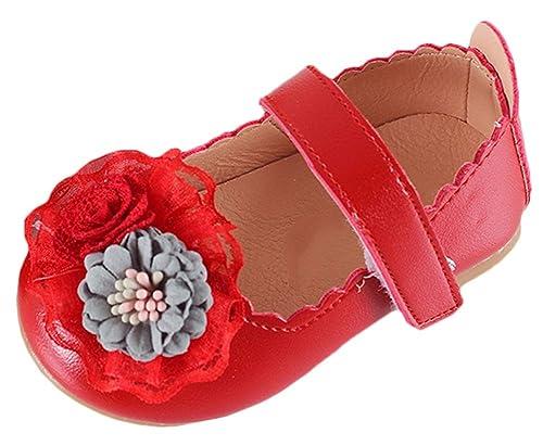 Kinder Mädchen Leder Klettverschluss Schuhe Hochzeit Party Lackleder Schuhe