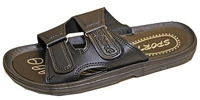 f140951b566 Pierre-cedric Sandale Sandalette Tong Mule Claquette Sport Homme Similicuir  Fermeture Velcro (40