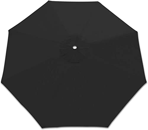Strong Camel Patio Umbrella Replacement Canopy Cover for 10FT 8 Ribs Market Umbrella Black