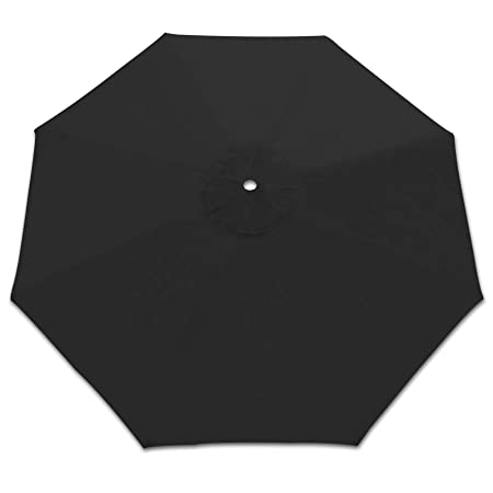 Strong Camel Replacement Patio Umbrella Canopy Cover for 10ft 8 Ribs Umbrella Taupe Canopy ONLY Black