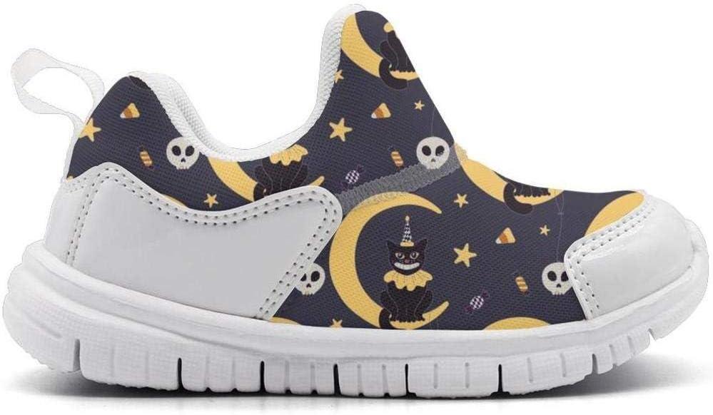 ONEYUAN Children Moon cat Halloween Night Skull Kid Casual Lightweight Sport Shoes Sneakers Walking Athletic Shoes