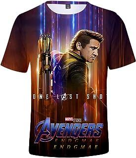 FLYCHEN Uomo Maglietta 3D Stampato Avengers Endgame MCU Serie Film Eroismo a Manica Corta Movie Passione Appassionata Vendicatori Infinity War Ⅱ