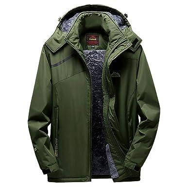 77ed467df Clearance Mens Jacket! Pervobs Mens Winter Warm Windbreaker Jacket Fleece  Liner Outdoor Hoodie Parka Sport