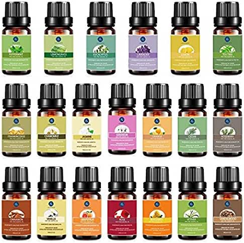 Essential Oil Set Premium Therapeutic Aromatherapy Oil Top 20 Kit Lavender Frankincense Peppermint Rose Rosemary Sandalwood