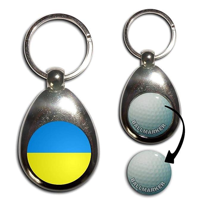 Amazon.com: Ukraine Flag – Llavero marcador de pelotas de ...