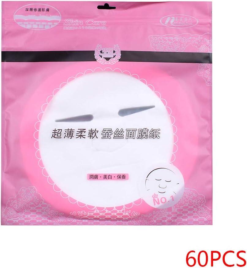 Sunlera - Juego de 60 mascarillas Desechables de algodón no tóxico, Plantillas de Papel para Rostro: Amazon.es: Hogar