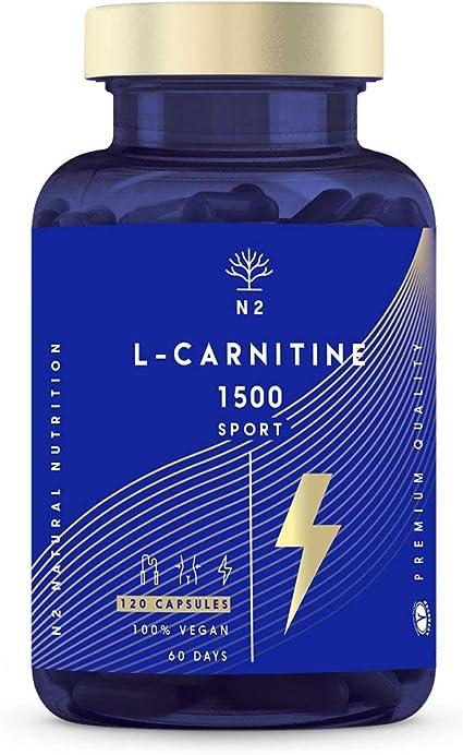 L-CARNITINA Natural 1500 Complemento L Carnitina Quemagrasas ...
