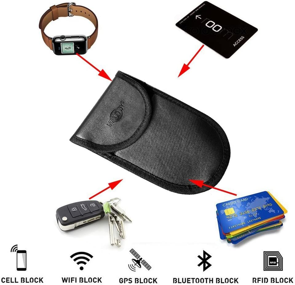 Car Key Protector Antitheft Lock Devices Fob Guard Keyless Entry Remote RFID Faraday Bag RFID Key Fob