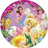 Procos 1013–Assiettes Papier Disney Fairies, Ø20cm, 10pièces, rose