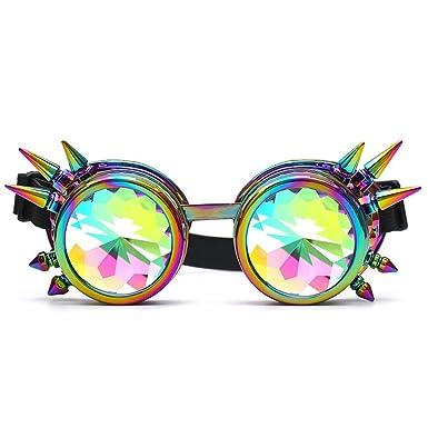 794d3c751b7d39 Longra Kaléidoscope Verres colorés Kaléidoscope Pop Jouets Rave Festival  Des lunettes de soleil Lentille diffractée Lunettes
