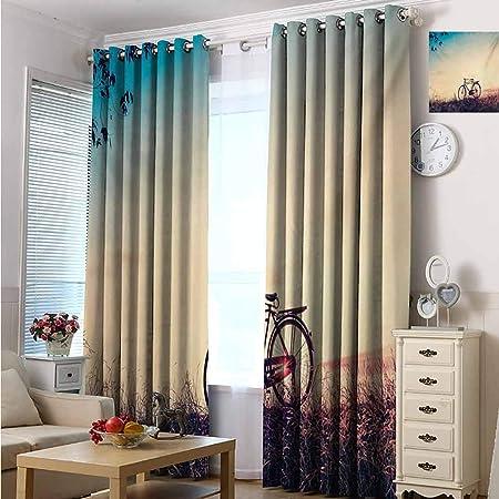 Cortina para puerta corredera de patio – Cortinas opacas anchas, mantiene las cortinas cálidas opacas para puertas