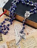 Nazareth Store Blue Crystal Beads Rosary Catholic